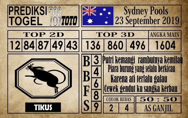 Prediksi Sydney Pools 23 September 2019