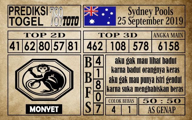 Prediksi Sydney Pools 25 September 2019