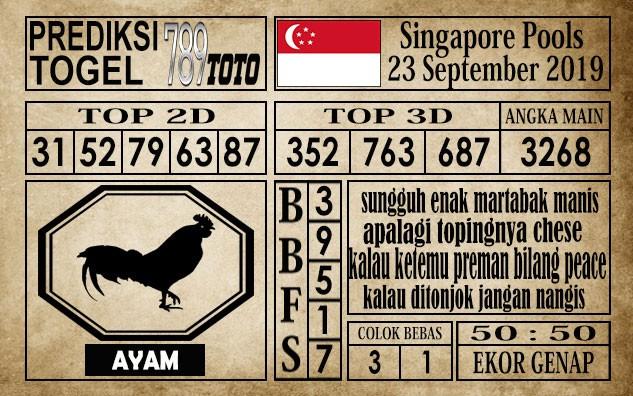 Prediksi Singapore Pools 23 September 2019