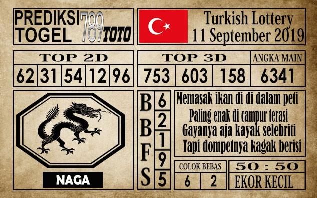 Prediksi Turkish Lottery 11 September 2019