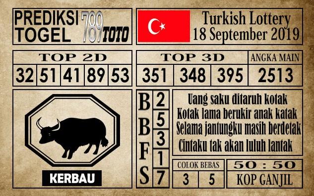 Prediksi Turkish Lottery 18 September 2019