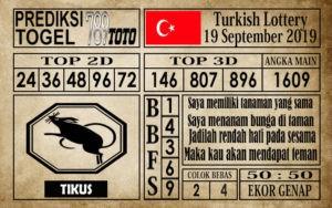 Prediksi Turkish Lottery 19 September 2019