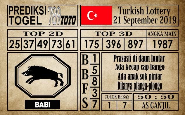 Prediksi Turkish Lottery 21 September 2019
