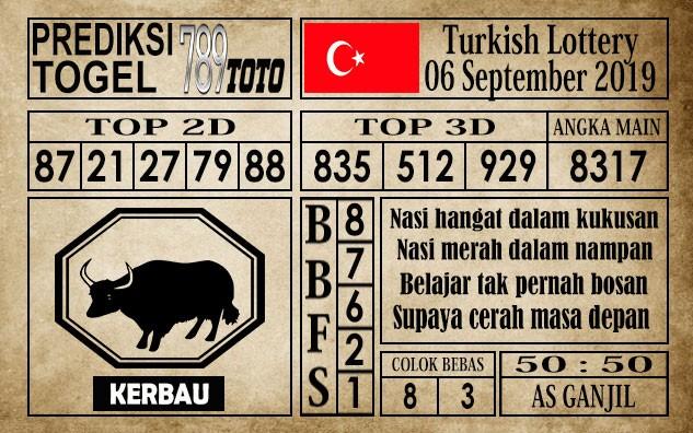 Prediksi Turkish Lottery 6 September 2019
