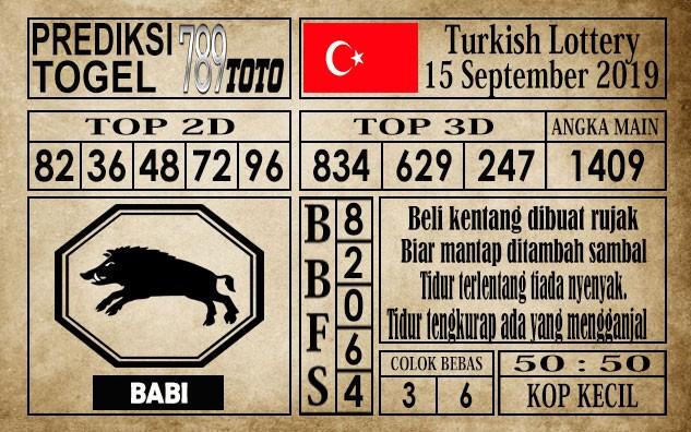 Prediksi Turkish Lottery 15 September 2019