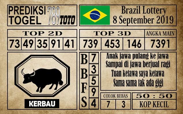 Prediksi Brazil Lottery 08 September 2019