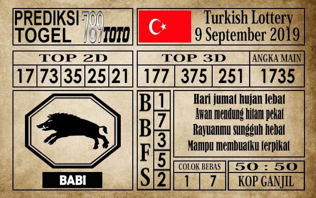 Prediksi Turkish Lottery 09 September 2019