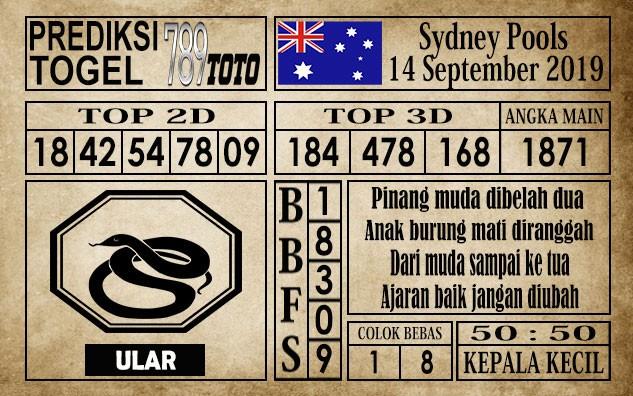 Prediksi Sydney Pools 14 September 2019