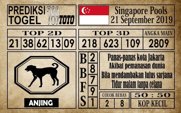 Prediksi Singapore Pools 21 September 2019