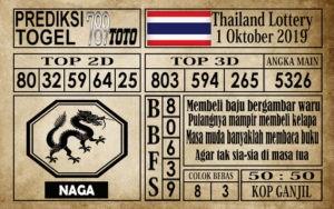 Prediksi Thailand Lottery 1 Oktober 2019