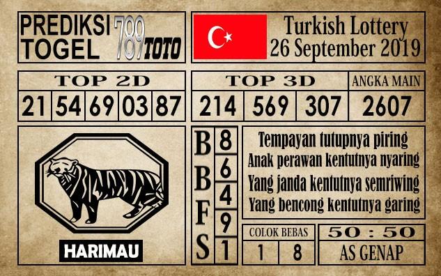Prediksi Turkish Lottery 26 September 2019