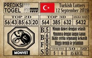 Prediksi Turkish Lottery 12 September 2019