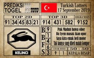 Prediksi Turkish Lottery 17 September 2019