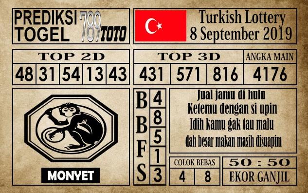 Prediksi Turkish Lottery 08 September 2019