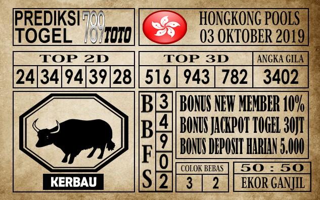 Prediksi Hongkong Pools 03 Oktober 2019