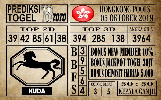 Prediksi Hongkong Pools 05 Oktober 2019