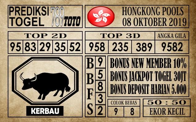 Prediksi Hongkong Pools 08 Oktober 2019
