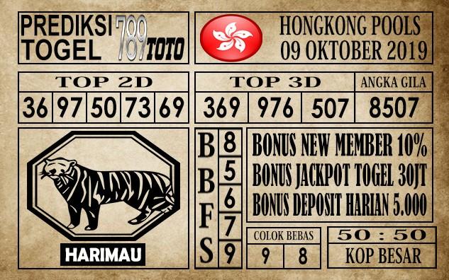 Prediksi Hongkong Pools 09 Oktober 2019
