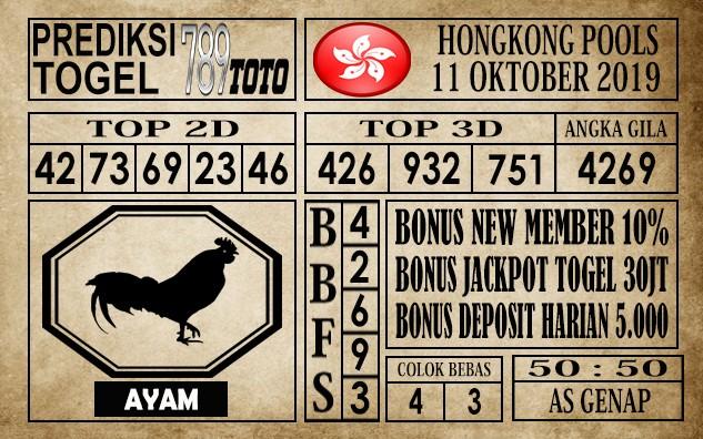 Prediksi Hongkong Pools 12 Oktober 2019