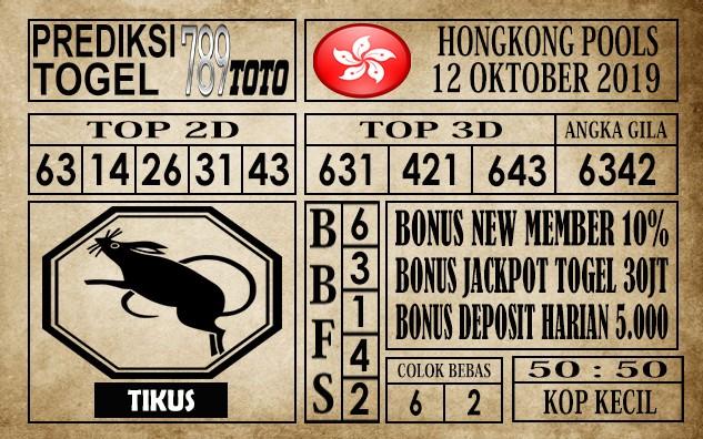 Prediksi Hongkong Pools 13 Oktober 2019