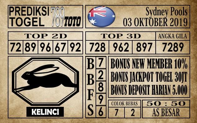 Prediksi Sydney Pools 03 Oktober 2019