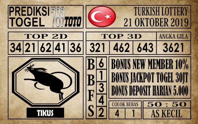 Prediksi Turkish Lottery 21 Oktober 2019