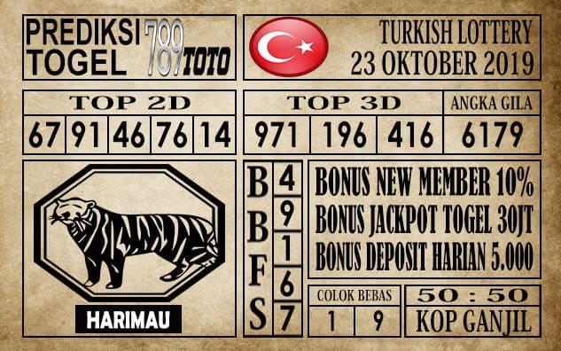Prediksi Turkish Lottery 23 Oktober 2019