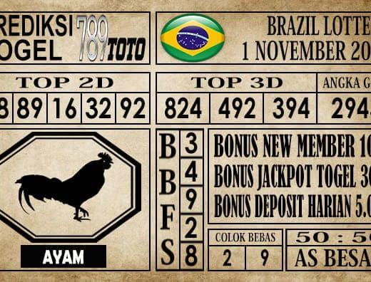 Prediksi Brazil Lottery 01 November 2019