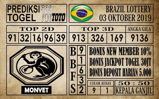 Prediksi Brazil Lottery 03 Oktober 2019