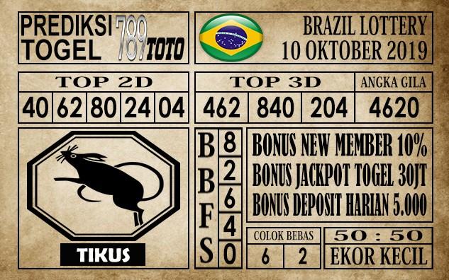 Prediksi Brazil Lottery 10 Oktober 2019