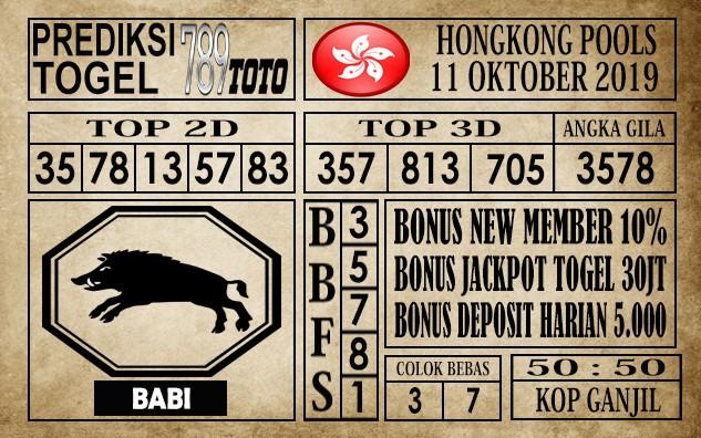 Prediksi Hongkong Pools 11 Oktober 2019