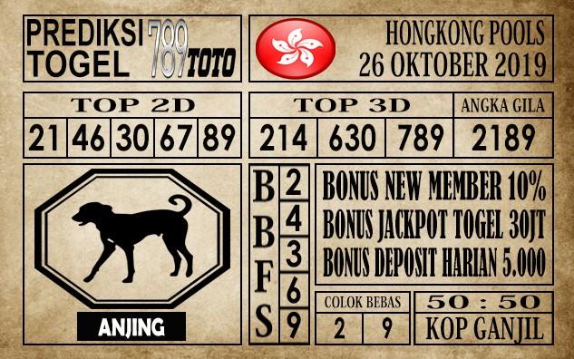 Prediksi Hongkong Pools 26 Oktober 2019