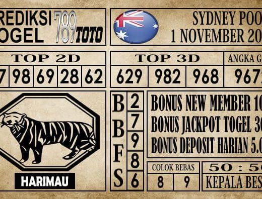 Prediksi Sydney Pools 01 November 2019