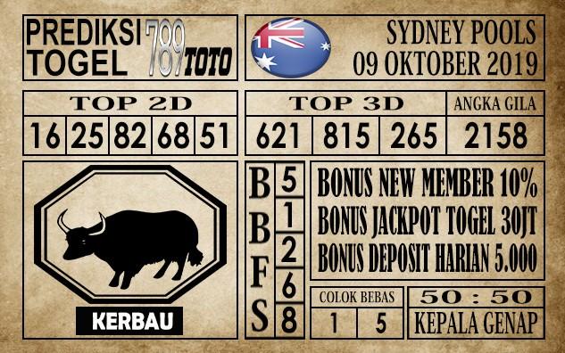 Prediksi Sydney Pools 09 Oktober 2019