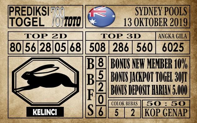 Prediksi Sydney Pools 13 Oktober 2019