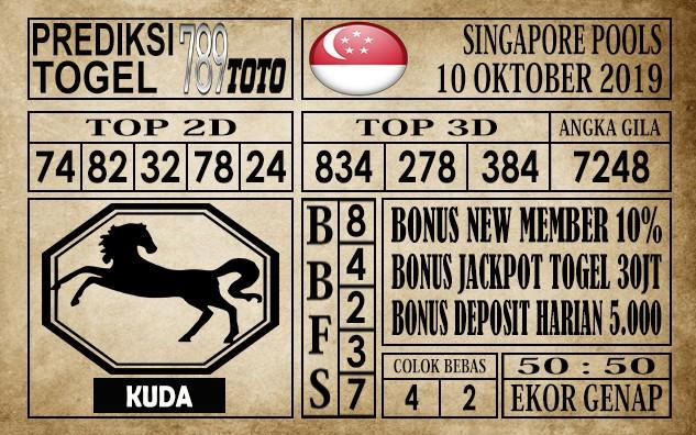 Prediksi Singapore Pools 10 Oktober 2019