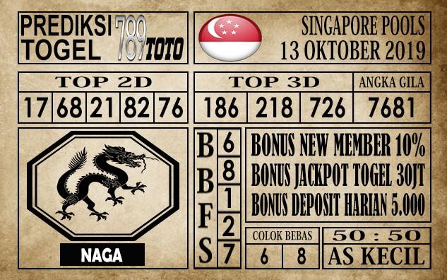 Prediksi Singapore Pools 13 Oktober 2019