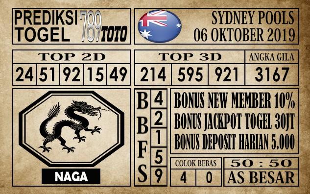 Prediksi Sydney Pools 06 Oktober 2019