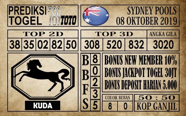 Prediksi Sydney Pools 08 Oktober 2019