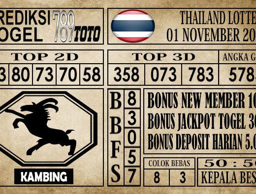 Prediksi Thailand Lottery 01 November 2019