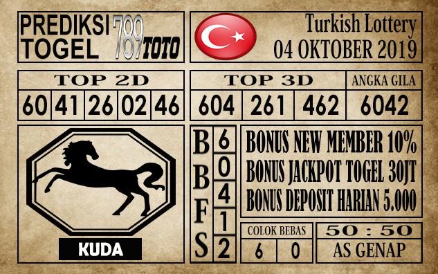 Prediksi Turkish Lottery 04 Oktober 2019