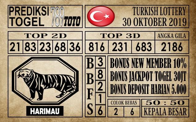 Prediksi Turkish Lottery 30 Oktober 2019