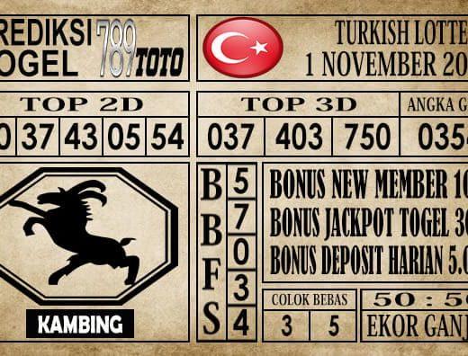 Prediksi Turkish Lottery 01 November 2019