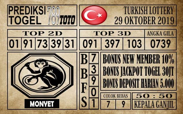 Prediksi Turkish Lottery 29 Oktober 2019