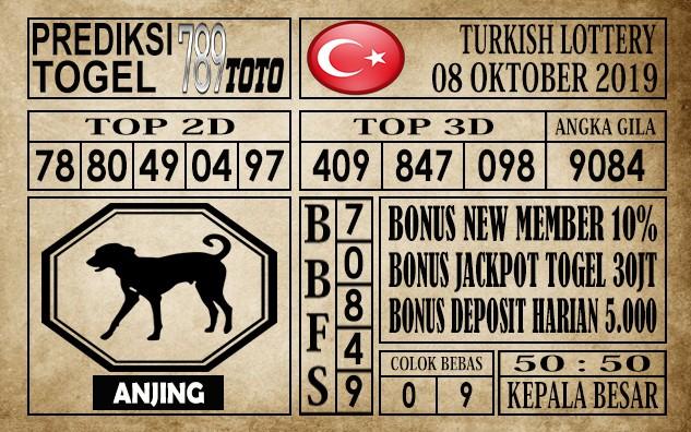 Prediksi Turkish Lottery 08 Oktober 2019