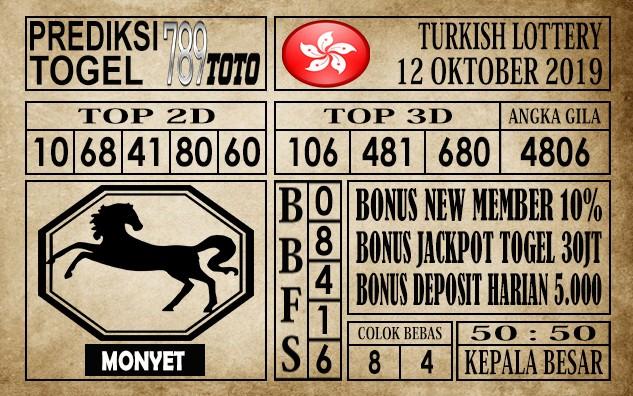 Prediksi Turkish Lottery 12 Oktober 2019
