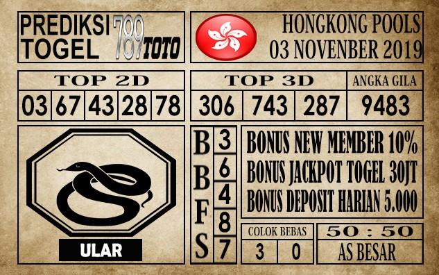 Prediksi Hongkong 03 November 2019