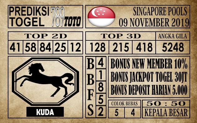Prediksi Singapore Pools 09 November 2019