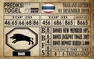 Prediksi Thailand Lottery Hari Ini 01 Des 2019