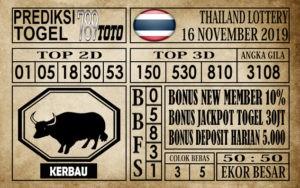 Prediksi Thailand Lottery 16 November 2019